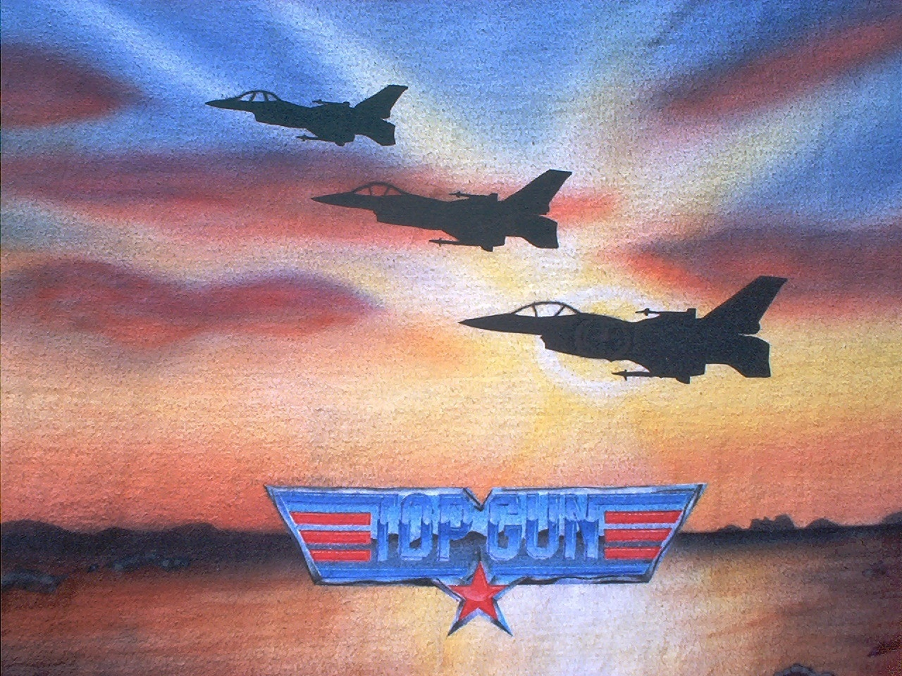 Top Gun Logos Top Gun Front Three Fighters